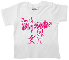 Dirty Fingers Baby Girl T-Shirt I'm the Big Sister