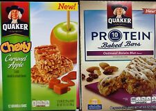 Quaker Oatmeal Chewy Granola Cereal Breakfast Bars Whole Grains Fiber ~ Pick One