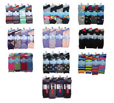 S93 12 Pairs Of Mens Designer Socks, Cotton Rich Lycra Design Socks, Size 6-11