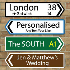 Personalised Metal Composite Direction Road Sign, Street Sign Fully Weatherproof