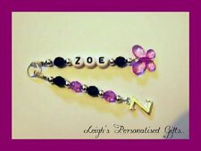 Personalised Keyring ANY INITIAL ANY NAME Cheap Back to school book bag gift
