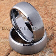 Tungsten Rings Infinity Wedding Bands Womens & Mens Set Titanium Color Size 6-13