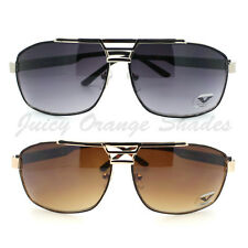MENS NAVIGATOR Sunglasses SQUARE FLAT BAR TOP PILOT AVIATOR Retro Fashion NEW