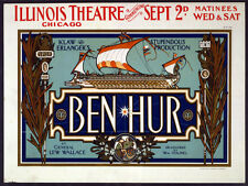 5843 Illinois theatre Chicago Ben hur Poster. Interior design. Decoration Art