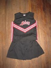 ADULT / TEEN 2 pc CHEERLEADING UNIFORM  BLACK RED SILVER AS-A2XL gently used