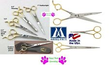 MILLERS FORGE Pet Grooming Ice Tempered Stainless Steel Gold SHEARS Scissor&Case