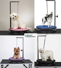 Master Equipment ROUND ROTATING SMALL PET Dog Cat GROOMING TABLE ARM,CLAMP&LOOP