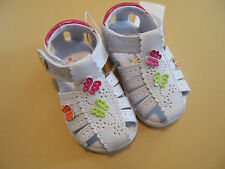 NWT WonderKids Allison Toddler Girls White Dress Shoes/Sandals 2 3