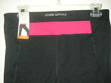 NWT WOMEN UNDER ARMOUR ALL SEASON GEAR FITTED PERFECT CAPRIS SELECT SIZE $55
