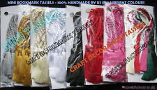 CARDMAKING BOOKMARK MINI TASSELS CRAFT BRIDAL Assorted Colours 6 colour pack