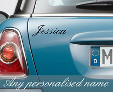 2 x PERSONALISED CUSTOM CAR NAME STICKERS DECALS TRANSFERS VAN QUAD BIKE WINDOW