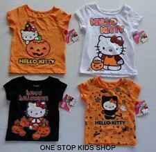 HELLO KITTY Girls 12 18 24 Mo 2T 3T 4T Tee HALLOWEEN SHIRT Top PUMPKIN