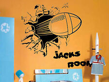 Blasting Rugby Giant Wall Art Stickers,Mural,Vinyl,Large,WA301,Personalise FREE