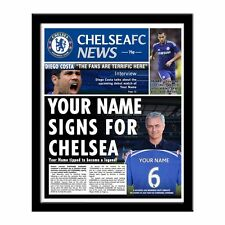 Personalised Official Chelsea FC Printed Newspaper Christmas Birthday Gift idea