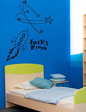 Space Rocket Giant Wall Art,Stickers Mural,Vinyl,Large WA212, Childrens Bedroom
