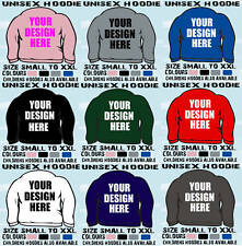 50 PERSONALISED ADULT  HOODED TOPS HOODIES OWN DESIGN