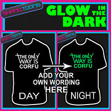 THE ONLY WAY IS PERSONALISED HEN PARTY NIGHT TOWIE ESSEX TSHIRT GLOW IN THE DARK