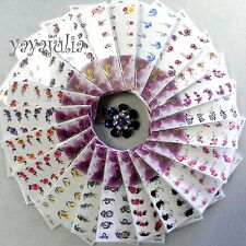 1 Water Slide Transfer Nail Art Decal Sticker Flowers -Buy 1 get the same 1 free