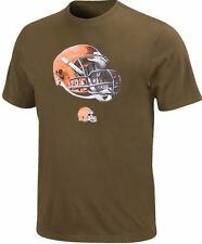Cleveland Browns NFL Team Apparel Brown Helmet Tee Shirt Big & Tall Sizes