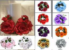 "8"" Wedding Unity Centerpiece Candle Ring FITS 3"" CANDLE PICK ROSE FLOWER COLOR"