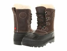 $180 Womens Kamik Pearson Brown Waterproof Leather Shearling Snow Winter Boots