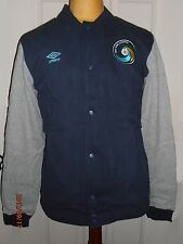 BNWT New York Cosmos Football Soccer Club Baseball Fleece Jacket by UMBRO