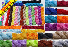 23 COLORS 1mm Chinese Knot Nylon Shamballa Macrame Thread Cord Wire Beading 27YD