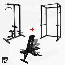 MEGA MUTLI GYM WEIGHT BENCH w/LAT PULL DOWN/PREACHER CURL/TRICEPS/LEG CURL/ABS