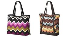 NEW! Missoni for Target Brown Colore & Passione Purple Large Shopping Tote Bag