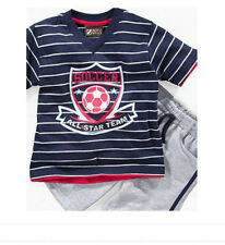 * NWT NEW BOYS 2PC NANNETTE SOCCER Shirt and Shorts OUTFIT SET 2T 4T 4 5 6
