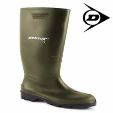 KIDS GREEN DUNLOP BOYS WELLINGTONS WELLIES BOOTSGIRLS SHOES SIZE 10-5 UK