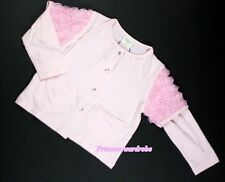 Light Pink Girl Jacket Spring Fall thin Coat Floral Interval Sleeve Size 1-8Year
