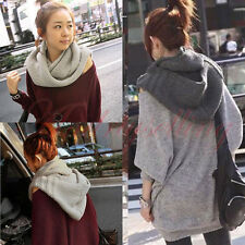 Women Girl Lady Fashion Knitting Knit Hooded Scarf Shawl Hood Wrap Hat Stole M04
