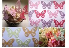 Edible Wafer Butterflies - Birthday Butterfly Cake Toppers - All Colours