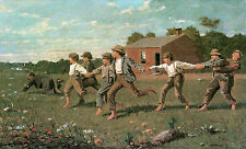 Snap the Whip, c.1872- Winslow Homer -- Great American Art