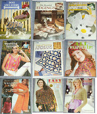 Leisure Arts Crochet Leaflets, Great Patterns, CHOICE of Several, FREE SHIPPING