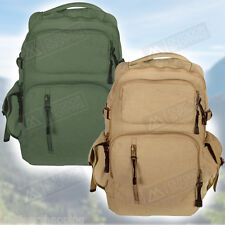 Color Washed Canvas Retro Yukon Mountaineering Rucksack/Backpack - 18.5x12.5x9""