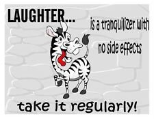Custom Made T Shirt Crazy Zebra Laughter Tranquilizer Side Effects Funny Humor