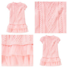NWT 3 4 5 6 7 8 9 10 12 Gymboree Glamour Ballerina Pink Tutu Cable Sweater Dress