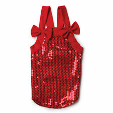 Dog Dress Sassy Sequin Tank Festive Sultry Party Red Elegant Holiday Glamorous