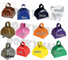 Cow Bells 3 Inches - Noise Maker Sporting Events Parties - Assorted Colors LQQK