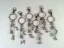 Dog Breed Keychain, Bulldog, Dachshund, German Shepherd, Poodle, Terrier, Puppy