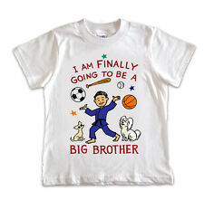 BOYS TODDLER I'm Going to Be The Big Brother T-Shirt PERSONALIZED FREE