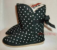 NWT Gymboree WINTER PENGUIN Black Dots Sherpa Boots Girls Shoes Size 10