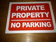 Private Property No Parking Sign Rigid Plastic A3 Size (f3r1)