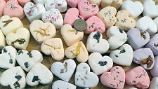 Pack 12 handmade premium  bath bombs hearts choice of scents