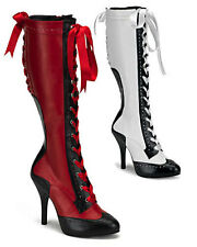 Moulan Rouge Can-Can Boots SEXY high heels Fancy Dress boots NEW Boxed Size 3-9