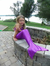 Custom Boutique Mystical Mermaid Tail in Purple or Emerald  Toddler/Girls sz SML