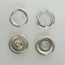 METAL SNAP FASTENERS PRESS-STUDS POPPERS, Approx 9.5mm , NICKEL FREE