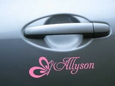 Butterfly personalised custom name sticker decal for car wall door laptop phone